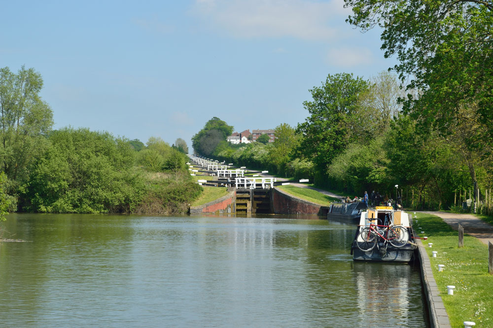 The Caen Hill Lock Flight