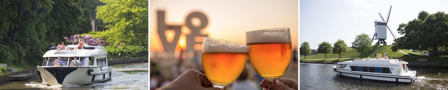 Kanalbåtar och öl i Belgien