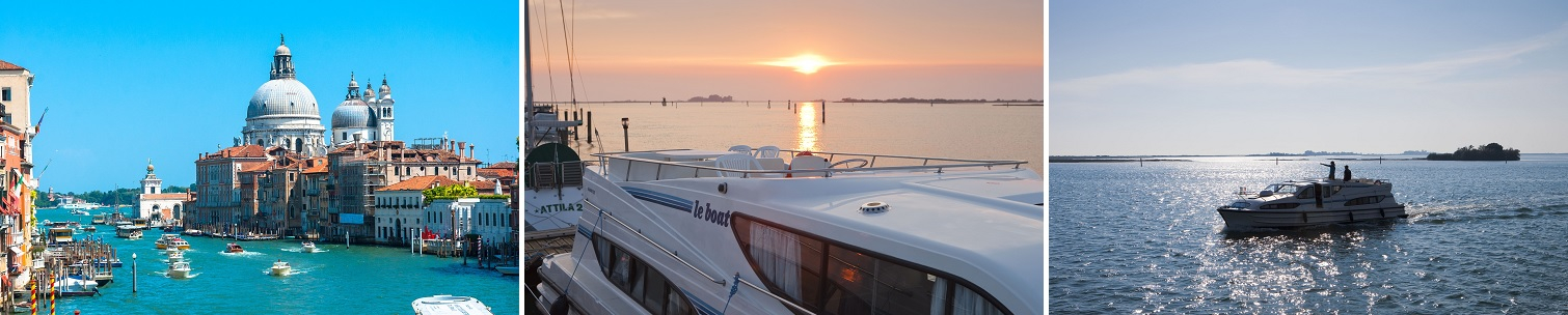 Kanalbåtar i Venedig