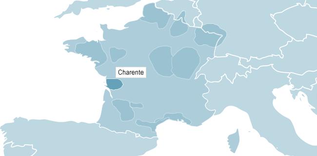 Karta över Carente