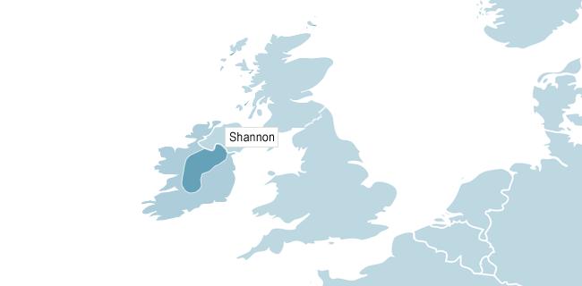 Karta över Shannon