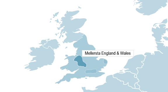 Karta över Manchester