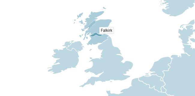 Karta över Edinburgh