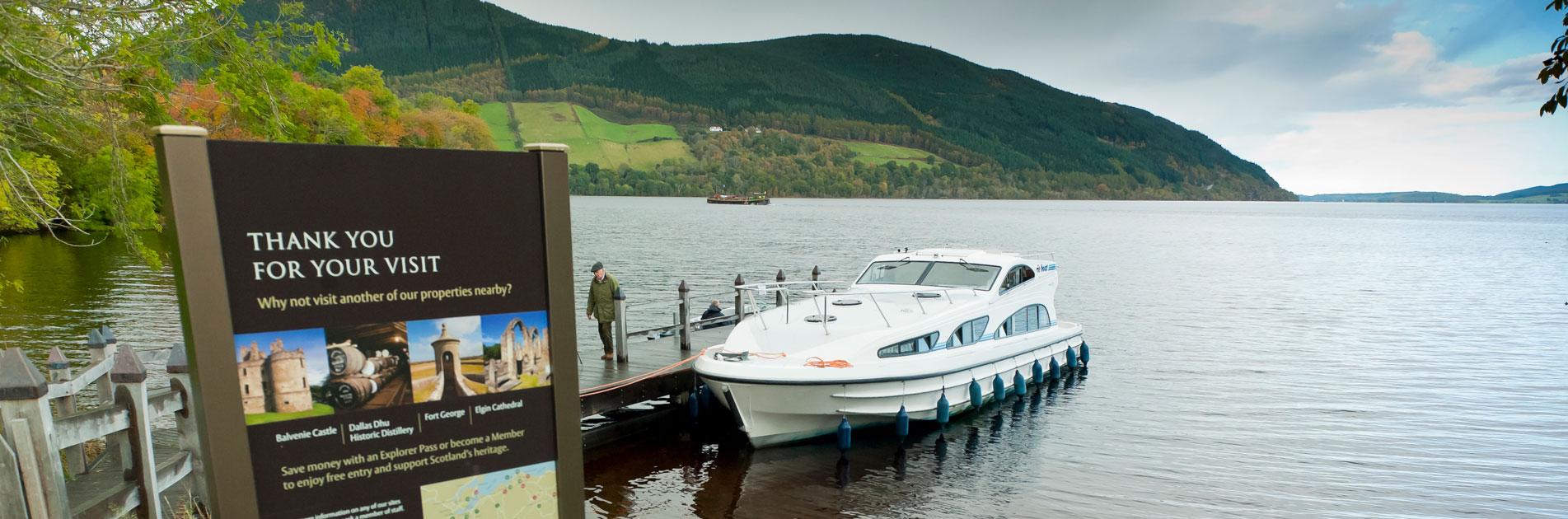 Kanalbåt i Skottland